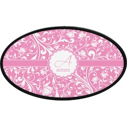 Floral Vine Oval Trailer Hitch Cover (Personalized)