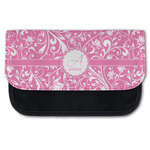 Floral Vine Canvas Pencil Case w/ Name and Initial