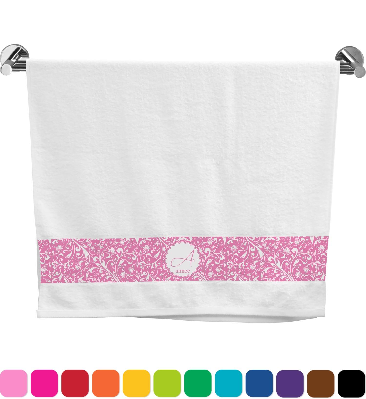 Floral Vine Bath Towel Personalized Youcustomizeit