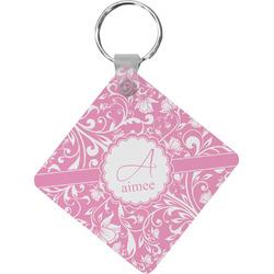 Floral Vine Diamond Key Chain (Personalized)
