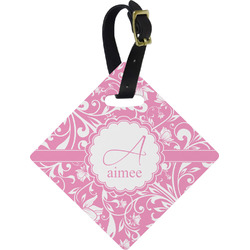 Floral Vine Diamond Luggage Tag (Personalized)