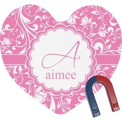 Floral Vine Heart Fridge Magnet (Personalized)
