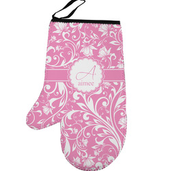 Floral Vine Left Oven Mitt (Personalized)