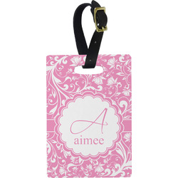 Floral Vine Rectangular Luggage Tag (Personalized)