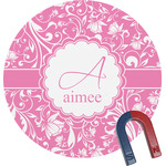 Floral Vine Round Magnet (Personalized)