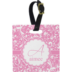 Floral Vine Square Luggage Tag (Personalized)