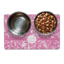 Floral Vine Pet Bowl Mat (Personalized)