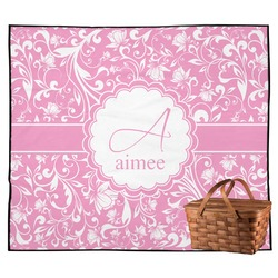 Floral Vine Outdoor Picnic Blanket (Personalized)