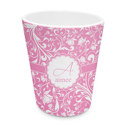 Floral Vine Plastic Tumbler 6oz (Personalized)