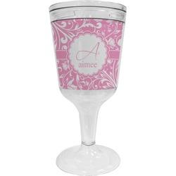 Floral Vine Wine Tumbler - 11 oz Plastic (Personalized)