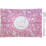 Floral Vine Glass Rectangular Appetizer / Dessert Plate - Single or Set (Personalized)