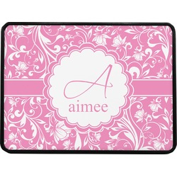 """Floral Vine Rectangular Trailer Hitch Cover - 1.25"""" (Personalized)"""