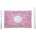 Floral Vine Glass Rectangular Lunch / Dinner Plate - Single or Set (Personalized)