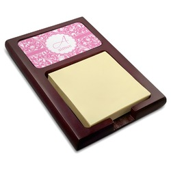 Floral Vine Red Mahogany Sticky Note Holder (Personalized)