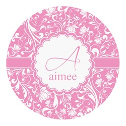 Floral Vine Round Decal - Custom Size (Personalized)