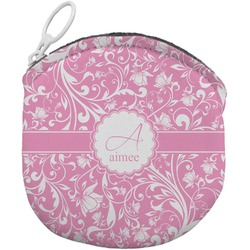 Floral Vine Round Coin Purse (Personalized)