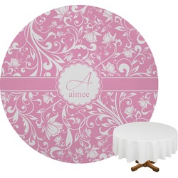 Floral Vine Round Tablecloth (Personalized)