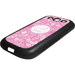 Floral Vine Rubber Samsung Galaxy 3 Phone Case (Personalized)