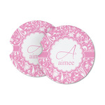 Floral Vine Sandstone Car Coasters (Personalized)