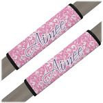 Floral Vine Seat Belt Covers (Set of 2) (Personalized)