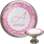 Floral Vine Cabinet Knob (Silver) (Personalized)
