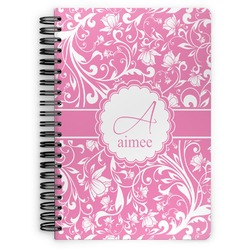 Floral Vine Spiral Bound Notebook (Personalized)