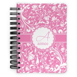 Floral Vine Spiral Bound Notebook - 5x7 (Personalized)