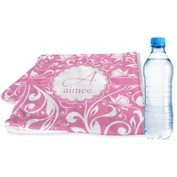 Floral Vine Sports Towel (Personalized)