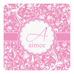 Floral Vine Square Decal - Custom Size (Personalized)