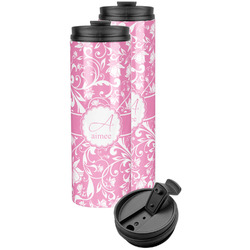 Floral Vine Stainless Steel Skinny Tumbler (Personalized)