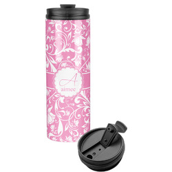 Floral Vine Stainless Steel Travel Tumbler (Personalized)