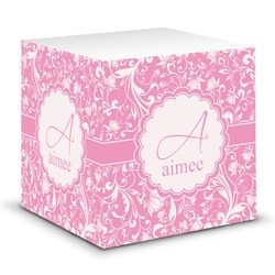 Floral Vine Sticky Note Cube (Personalized)