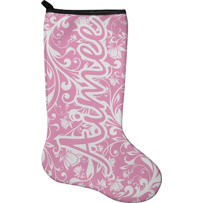 Floral Vine Holiday Stocking - Neoprene (Personalized)