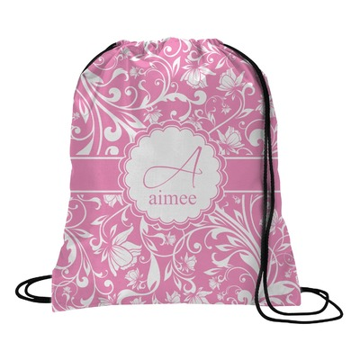Floral Vine Drawstring Backpack (Personalized)