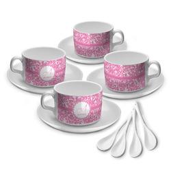 Floral Vine Tea Cup - Set of 4 (Personalized)