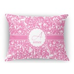 Floral Vine Rectangular Throw Pillow Case (Personalized)