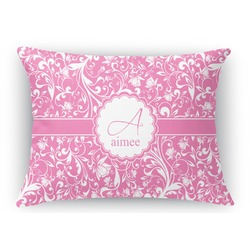 Floral Vine Rectangular Throw Pillow (Personalized)