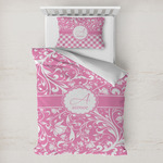Floral Vine Toddler Bedding w/ Name and Initial