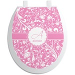 Floral Vine Toilet Seat Decal (Personalized)