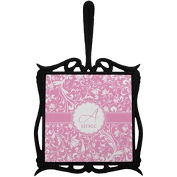 Floral Vine Trivet with Handle (Personalized)