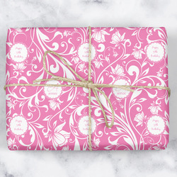 Floral Vine Wrapping Paper (Personalized)