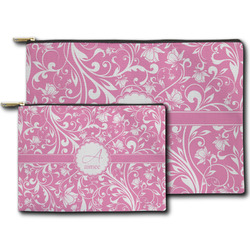 Floral Vine Zipper Pouch (Personalized)
