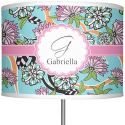 "Summer Flowers 13"" Drum Lamp Shade Polyester (Personalized)"