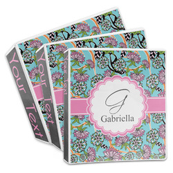 Summer Flowers 3-Ring Binder (Personalized)