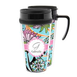 Summer Flowers Acrylic Travel Mugs (Personalized)