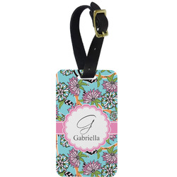 Summer Flowers Aluminum Luggage Tag (Personalized)