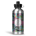 Summer Flowers Water Bottle - Aluminum - 20 oz (Personalized)