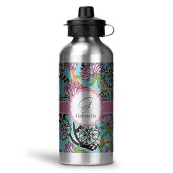 Summer Flowers Water Bottle - Aluminum - 20 oz (Personalized)
