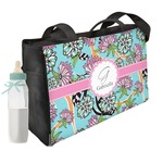 Summer Flowers Diaper Bag w/ Name and Initial