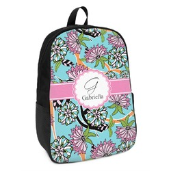 Summer Flowers Kids Backpack (Personalized)